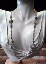 Collana lunga in Argento 925 con Pietre Agate