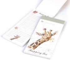 Wrendale designs giraffe magnétique shopping list pad illustré par hannah dale