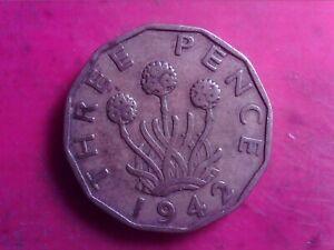 GREAT     BRITAIN     THREEPENCE    1942    NOV23