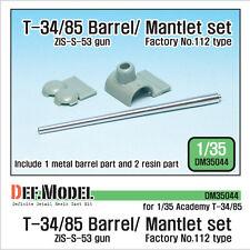 Def. modelo, pistola principal T-34/85 con conjunto de mantlet, DM35044