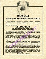 Rules In An Anatolian Shepherd Dog's House