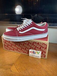 Vans Old Skool Skate Shoe Rumba Red/ True White Sz 11 Rare