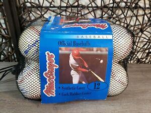 "12 Factory Sealed Official MacGregor Cork & Rubber Core Baseball 9""- 5 OZ 92722"