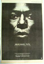 MILES DAVIS 1986 POSTER ADVERT TUTU wembley concert JAZZ