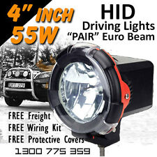 HID Xenon Driving Lights - Pair 4 Inch 55w Euro Beam 4x4 4wd Off Road