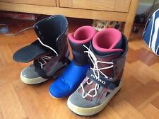 PAIR OF NITRO CLICKER SNOWBOARD BOOTS SIZE UK7