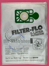 NUMATIC Henry, Hetty, James, Basil, Harry Filter-Flo Vacuum Cleaner Bags NVM-1CH