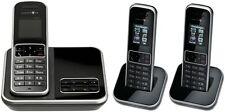 T-SINUS A405 Trio Schwarz Schnurlos Telefon mit 3 Mobilteilen Anrufbeantworter