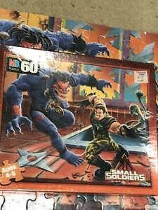 VTG MB Small Soldiers 60 Piece Kip Killigan & Insaniac Complete Puzzle 1998