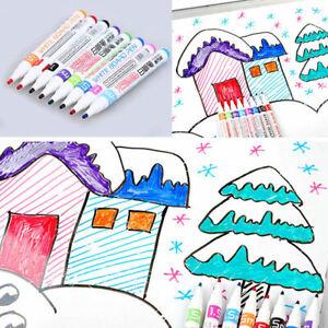 8x Multicolor Liquid Chalk Marker Pen Whiteboard Kids Writing Paintings DIY New