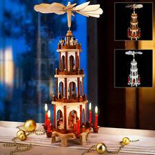 Weihnachtspyramide Tischpyramide Erzgebirge 60cm Holz 4-stöckig Weihnachten Deko