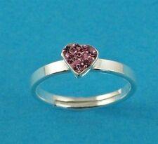 Heart Solitaire Fine Rings