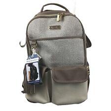 Itzy Ritzy Boss 17-Pocket Backpack Diaper Bag with Rubber Feet in Vanilla Latte