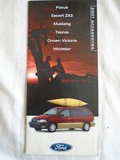 Ford Focus Mustang ZX2 Taurus Windstar Accessories brochure 2001 USA market