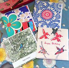 KO/P2 SET OF FOUR GREETINGS CARDS;KIMONO;QUALITY;ORIGINAL;TEXTILE ART