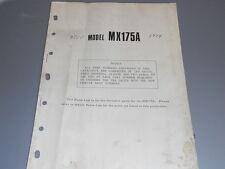 Yamaha Parts List 1974 MX175A MX175 A