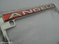 Motorcycle License Plate Frame Chrome - Anaheim Angels - Laser Cut