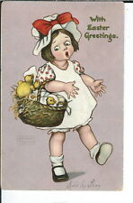 AX-059 - Easter Greetings, Artist Signed Postcard Katharine Gassaway 1907-1915