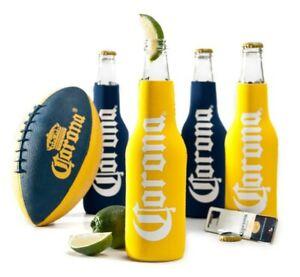 Corona Tailgate Set Licensed Beer Football Bottle Opener Magnetic Koozies