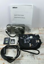 Nikon Silver Coolpix S9100 Compact Camera + Lanyard + Case + USB Lead Ect VGC