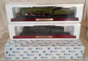 2× BOXED ATLAS EDITIONS PACIFIC 9F EVENING STAR & PLM MOUNTAIN MODEL LOCOMOTIVES