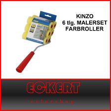 6 tlg. MALERSET KINZO FARBROLLER LAKIERSET STREICHSET MALERZUBEHÖR Schwamm Walze