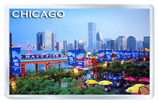 CHICAGO ILLINOIS MOD12 FRIDGE MAGNET SOUVENIR IMAN NEVERA
