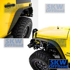 Black Textured Stubby Front+Rear Set Steel Fender Flare fit 07-17 Jeep Wrangler