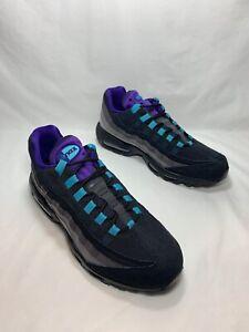 "Nike Air Max 95 LV8 ""Black Grape"" Men's Size 11 BLK/CRT PRPL-TEAL AO2450 002"