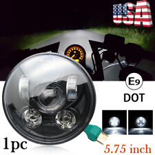 """Brightest 80W 5-3/4"""" 5.75"""" inch LED Projector Headlight DRL for Motorcycle Bike"""