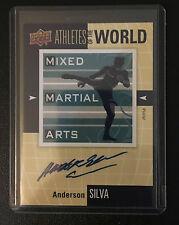 2011 Upper Deck World of Sports Anderson Silva autograph insert
