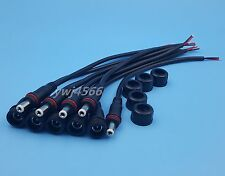 5Pair DC5.5x 2.1mm Male Female LED Strip Waterproof Power Connector Cable Black