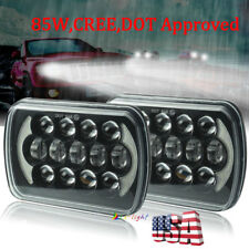 "2pc 85W 5X7"" 7x6"" LED Hi/Lo Beam Headlights DRL for Jeep Wrangler YJ Cherokee XJ"