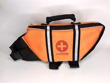 LuvGear Dog Life Vest Orange with UV Alert Sz Small 15-20 pounds
