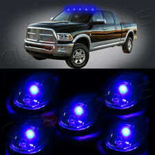 5pcs Cab Roof Top Blue Led Running/Driving Light Marker Lamps Truck /Suv/ 4X4