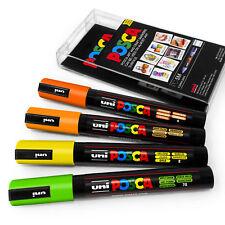 Uni Posca PC-5M Art Marker Paint Pens - Citrus Tones Set of 4 Plastic Wallet