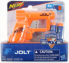 NERF Micro JOLT ORANGE Pistol N-Strike Elite Series mini Blaster gun 2 Darts NEW