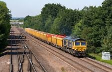 "PHOTO  GBRF LIVERIED 66744 ""CROSSRAIL"" HEADS THE 12.52 DONCASTER UP DECOY - MOUN"