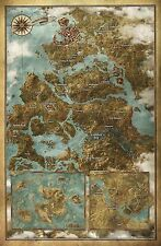 The Witcher 3 Wild Hunt Map Hot New game Art 2015 24x36 inches Z37
