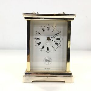 Vintage Tempus Fugit Carriage Quartz Clock, West Germany #454