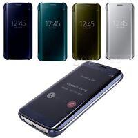 Samsung Galaxy S6 Edge/Edge Plus  Mirror Smart View Clear Flip Phone Case Cover