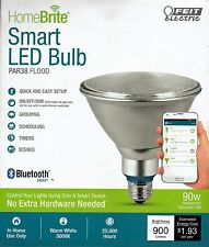 HOME BRIGHT Bluetooth Smart LED: PAR38 FLOOD 90W Equivalent Dimmable - By Feit