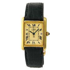 Cartier Tank Louis Vermeil 2413 Mens Quartz Watch Gold Plated 25mm