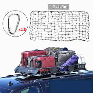 1.8x1.2m Cargo Net Bungee Cord Roof Rack for Trailer Rooftop Rack Boat Luggage