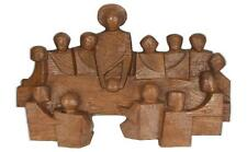A hand carved oak wall sculpture Last supper Religious interest