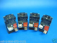 Lot of 4 Pushmatic Breakers 15Amp Red Tag Single Pole Cat No. 31115 same as P115