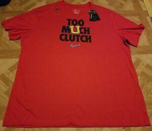 Nike Too Much Clutch T-Shirt Basketball Dri-Fit Men's XXL Red Brand New