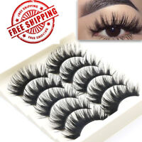 Soft Dramatic False Eyelashes THICK LONG WISPY Strip Eye Lashes MakeUp 3D USEY