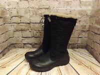 Womens UGG Australia Black Zip Up Sheepskin Lined Winter Boots UK 4.5 EU 37 US 6