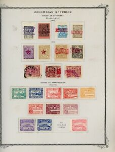 COLOMBIA Scott Specialty Album Page Lot #16 - SEE SCAN - $$$